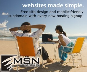 Free site design and mobile-friendly subdomain with every new hosting signup!